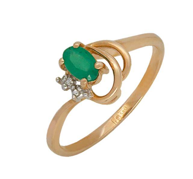 Золотое кольцо Бриллиант и Изумруд арт. 813488ки 813488ки