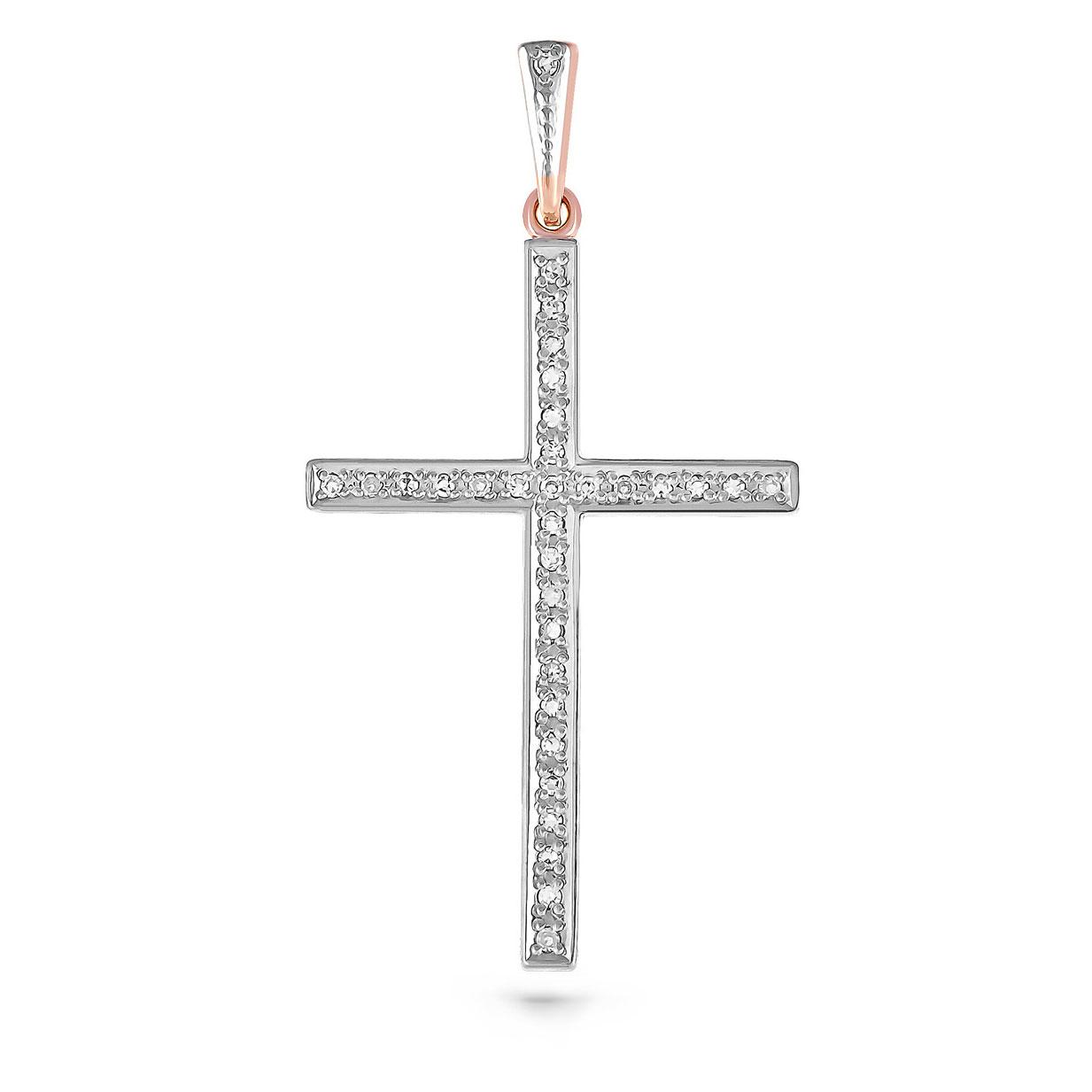 Золотой крест с бриллиантом арт. 3-0171 3-0171