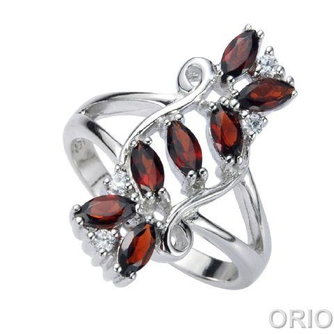 Серебряное кольцо Гранат и Фианит арт. 41100091 41100091