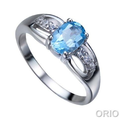 Серебряное кольцо Топаз и Фианит арт. 41100093 41100093