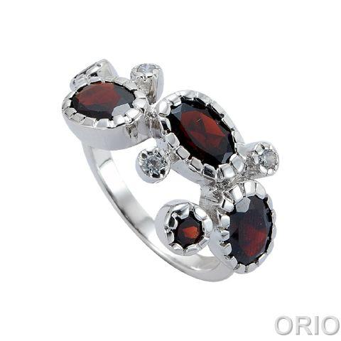 Серебряное кольцо Гранат и Фианит арт. 41100048 41100048
