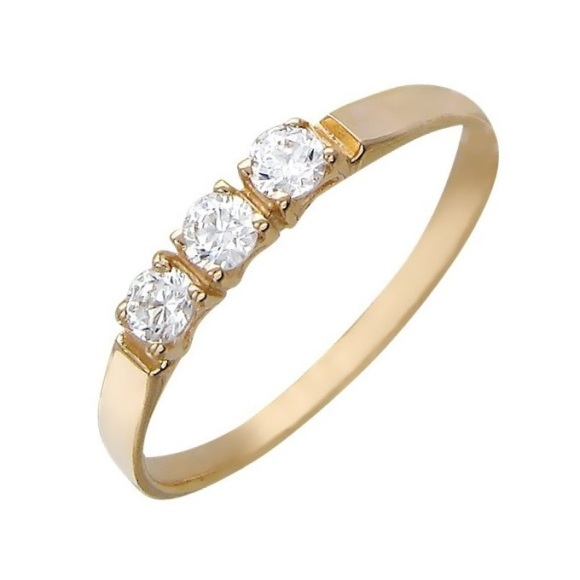 Помолвочное кольцо из золота с фианитом Фианит арт. r01-z-z-rms-035 r01-z-z-rms-035