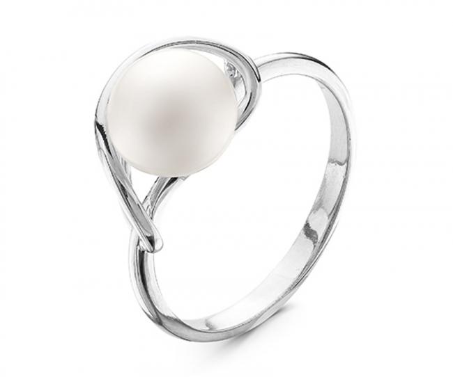 Серебряное кольцо Жемчуг арт. с44-9429кж-17.5 с44-9429кж-17.5