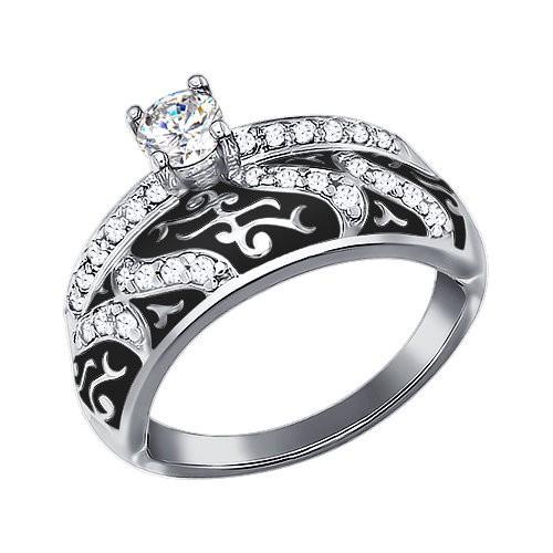 Серебряное кольцо Фианит и Эмаль арт. 94011129 94011129