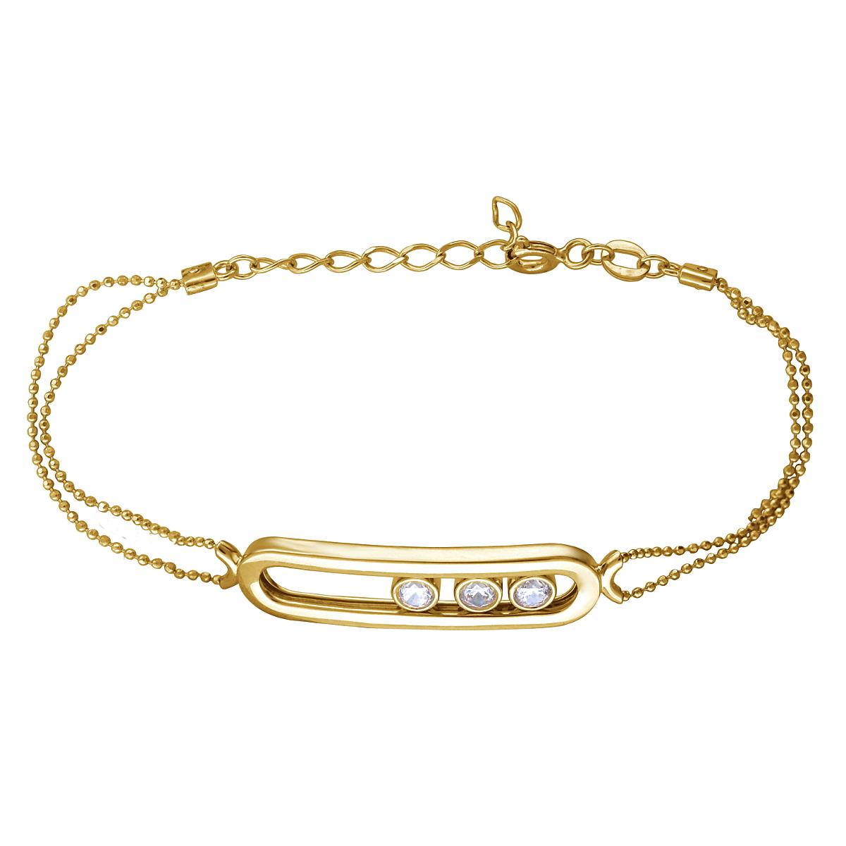 Браслет из лимонного золота с цирконием арт. 01б132623 01б132623