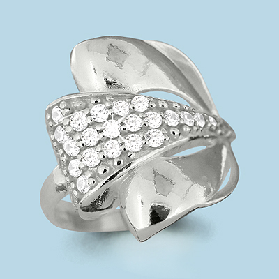 Серебряное кольцо Фианит арт. 63483а 63483а
