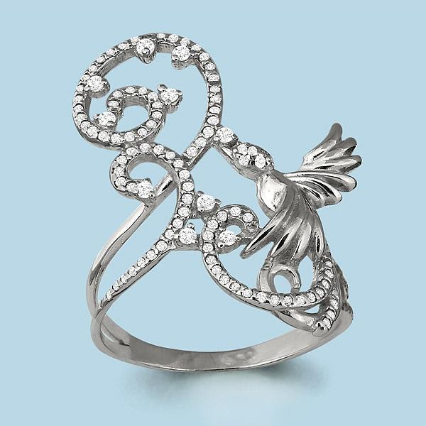 Серебряное кольцо Фианит арт. 64012а 64012а
