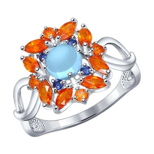 Серебряное кольцо Топаз и Фианит арт. 92011211 92011211