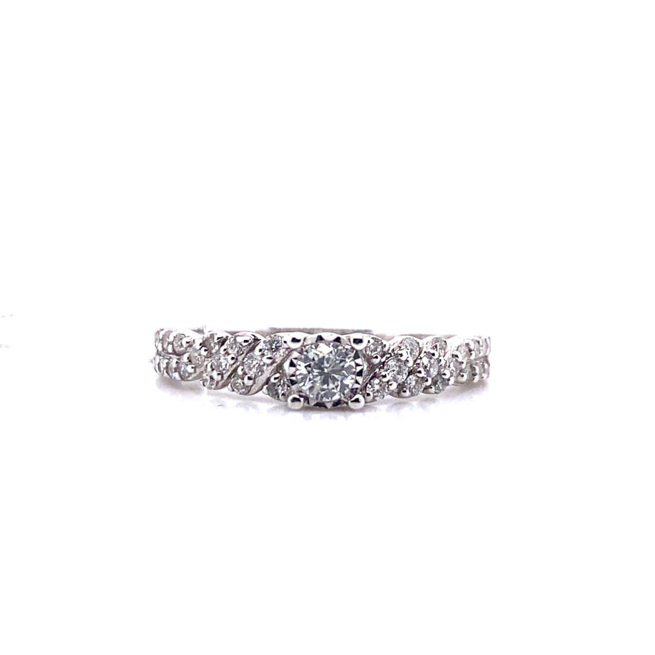 Кольцо из белого золота rwi16763brtd