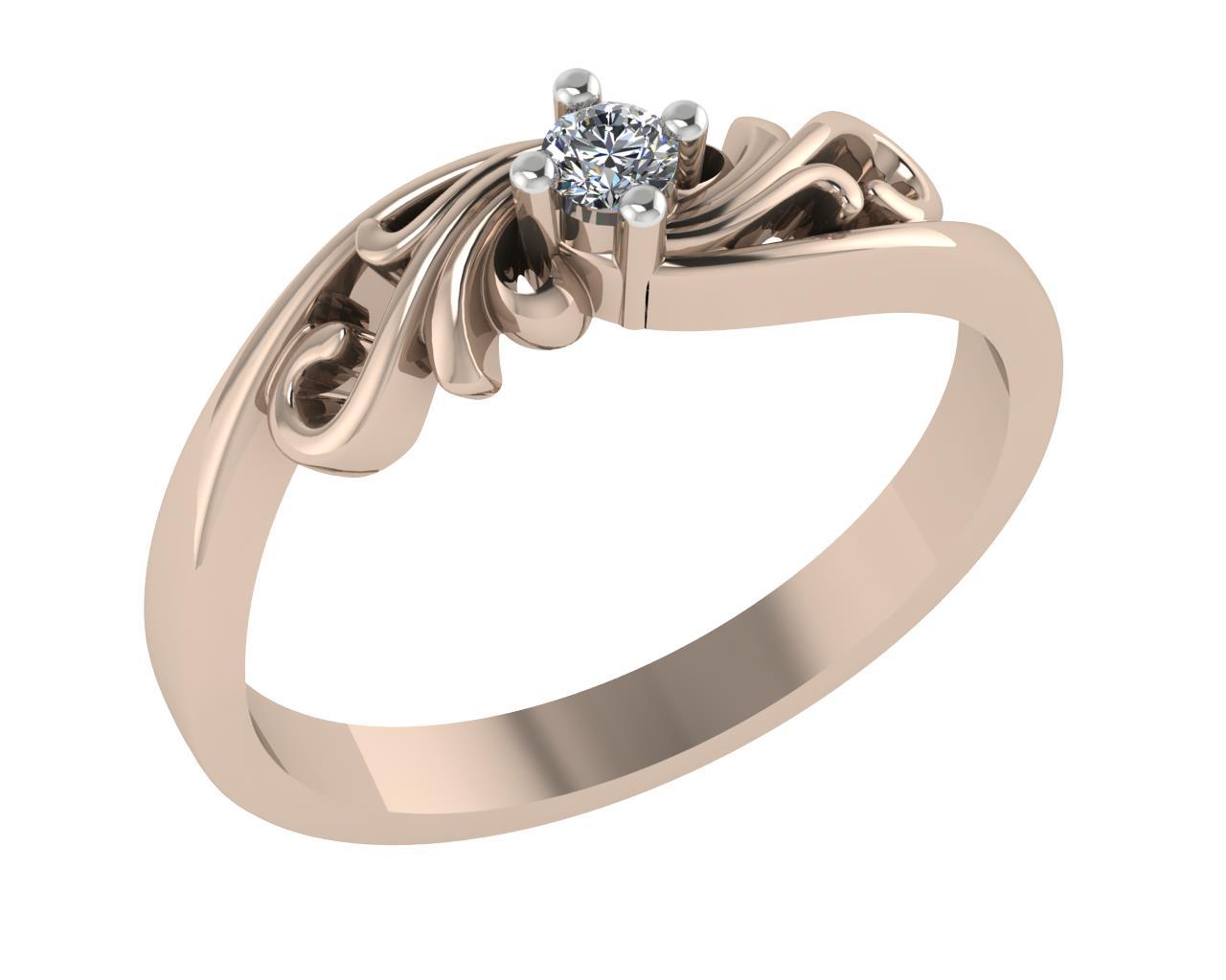 Золотое кольцо Фианит арт. 1026621-11210 1026621-11210