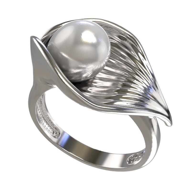 Серебряное кольцо Жемчуг арт. 1033081-01250 1033081-01250
