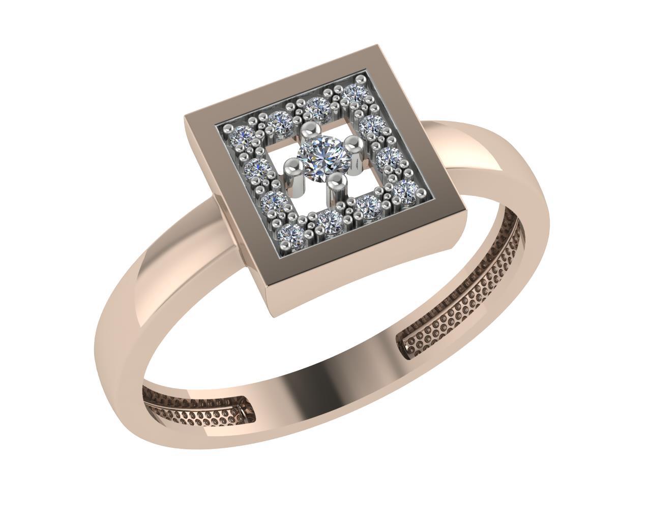Золотое кольцо Фианит арт. 1026091-11110 1026091-11110