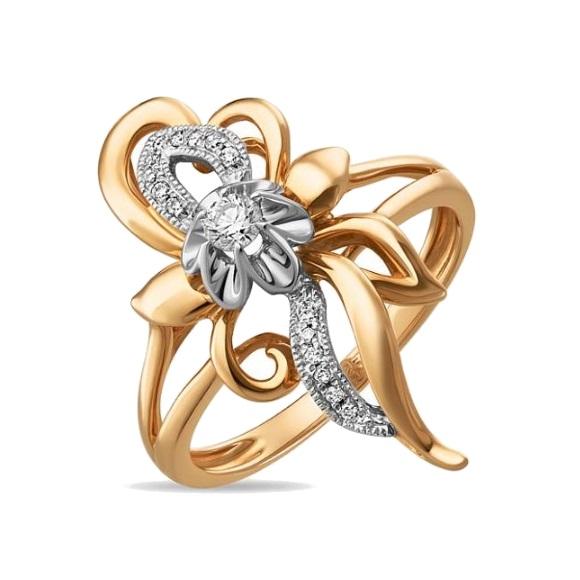 Золотое кольцо Бриллиант арт. r01-d-33884 r01-d-33884