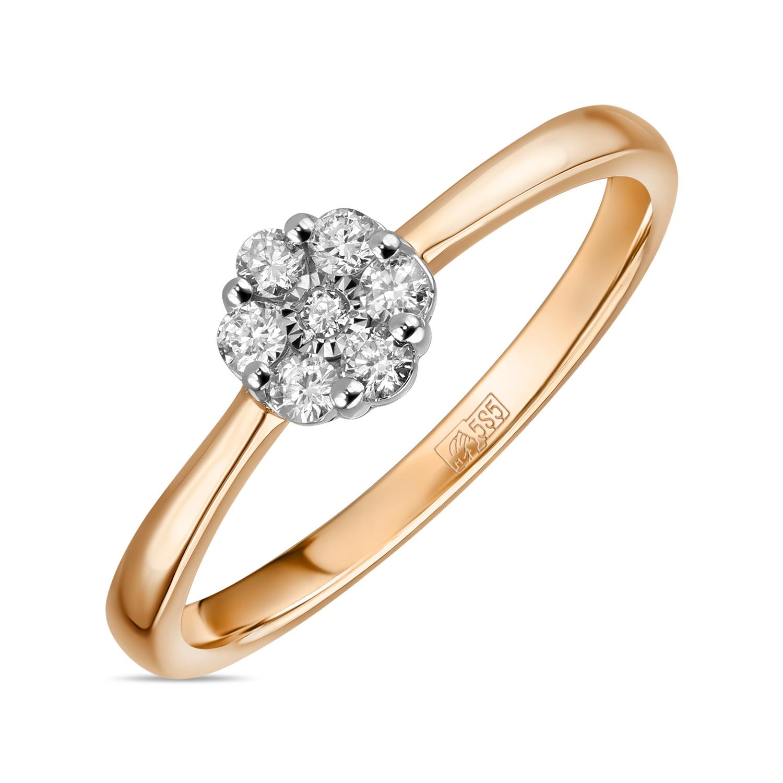 Золотое кольцо Бриллиант арт. r01-d-igr-32620tm r01-d-igr-32620tm