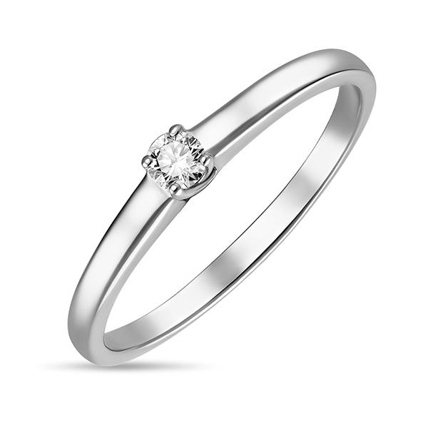 Кольцо из белого золота Бриллиант арт. r01-d-sol40-010-g3 r01-d-sol40-010-g3