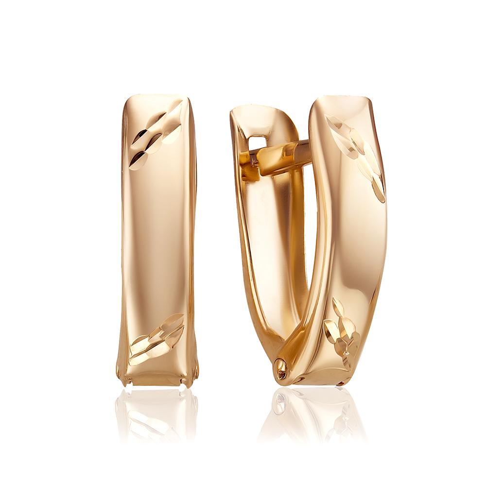 Золотые серьги 20519
