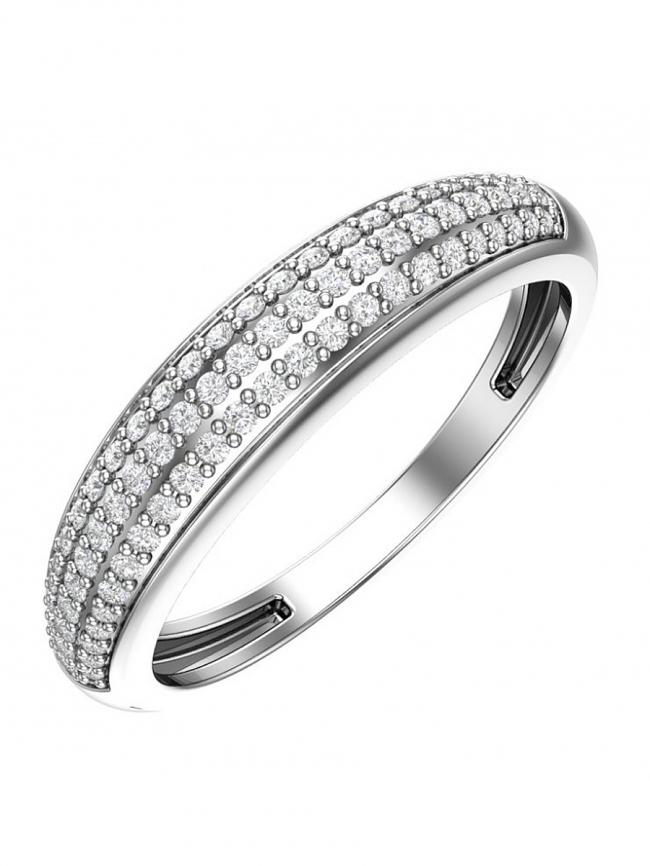 Серебряное кольцо Фианит арт. с32-728кф-16.5 с32-728кф-16.5