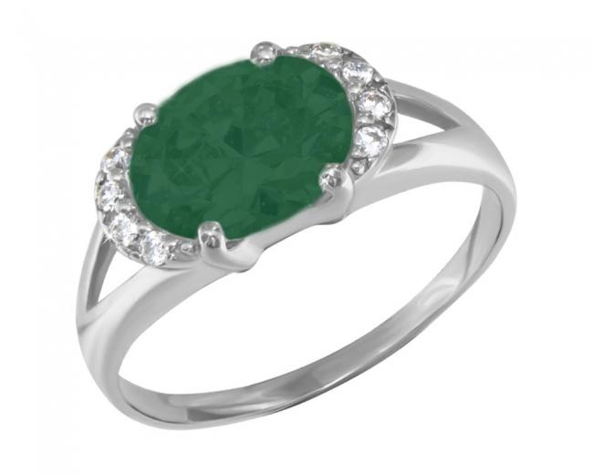 Серебряное кольцо с32-366ккз-18