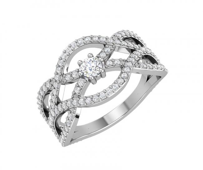 Серебряное кольцо Фианит арт. с32-814кфс-18.5 с32-814кфс-18.5
