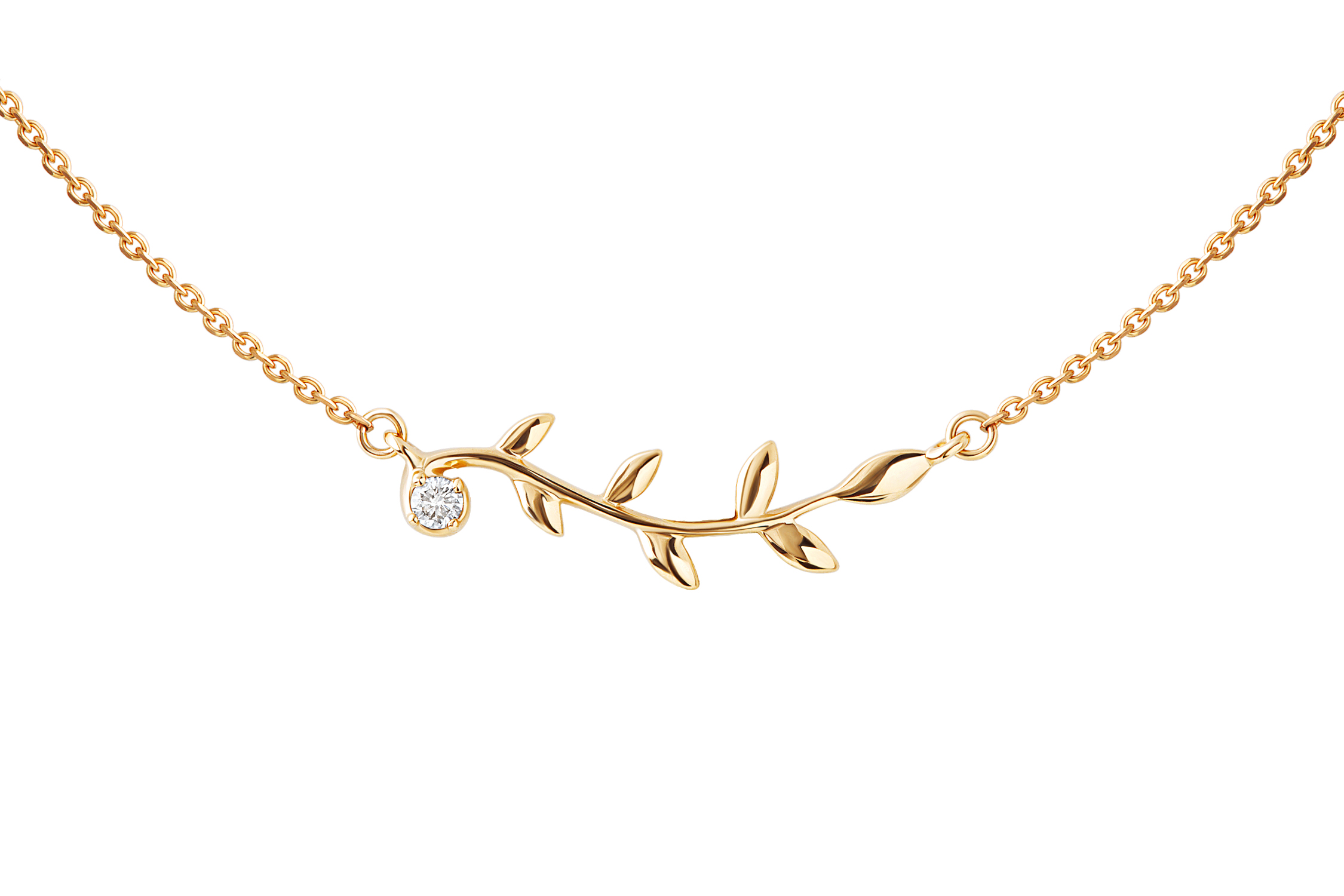 Золотое колье с бриллиантом арт. 91152 91152