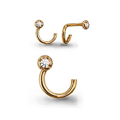 Пирсинг в нос из золота с фианитом арт. 70513а 70513а