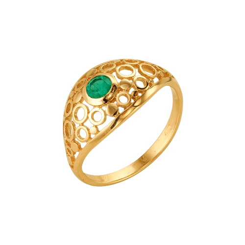 Золотое кольцо Изумруд арт. 64000122 64000122