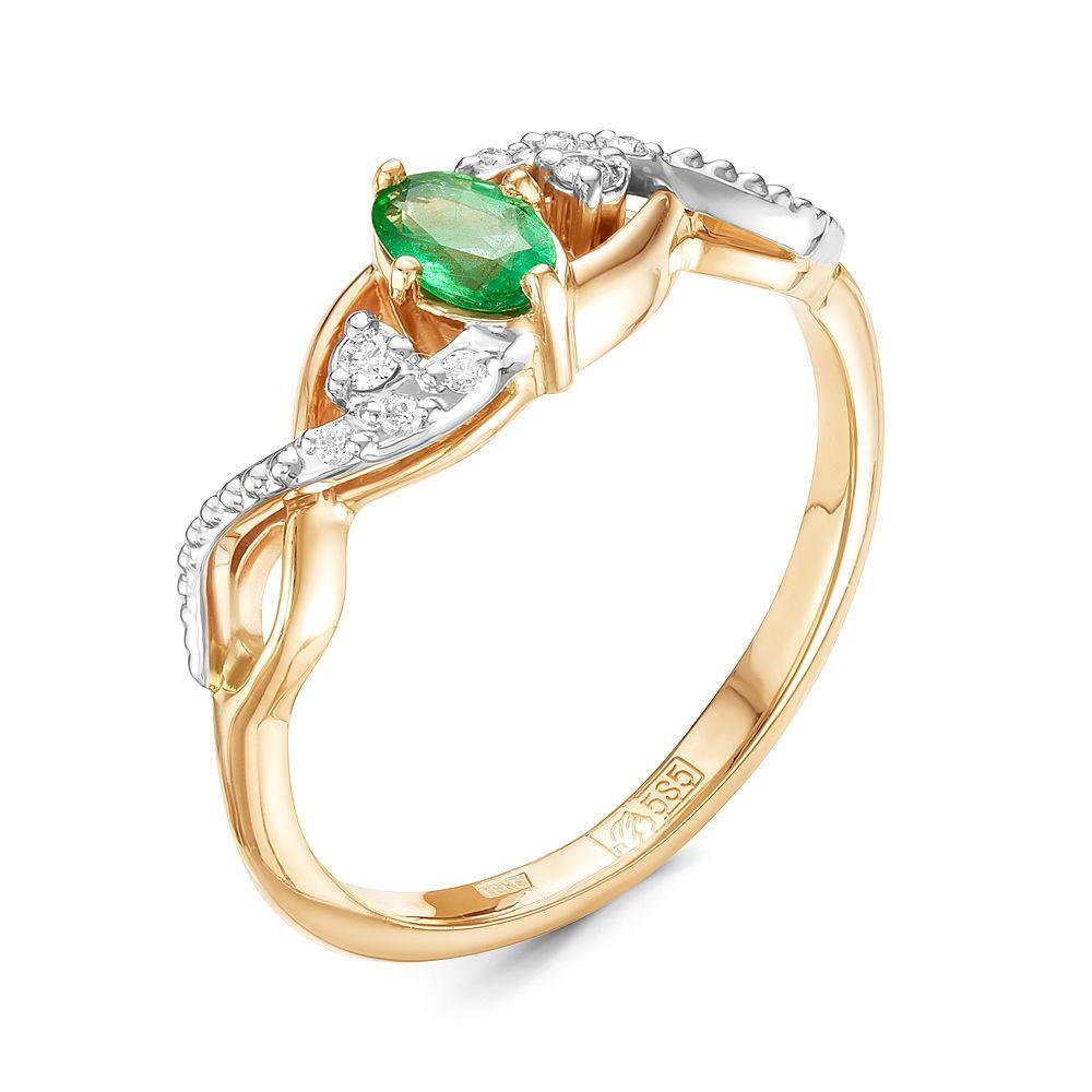 Золотое кольцо Бриллиант и Изумруд арт. 94000136 94000136