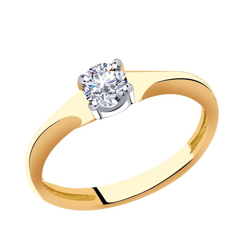 Золотое кольцо Кристалл сваровски арт. 66086 66086