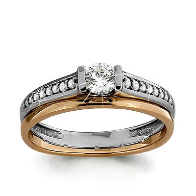 Золотое кольцо Кристалл сваровски арт. 66119а 66119а