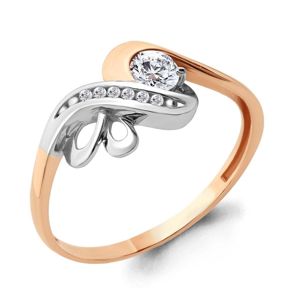 Золотое кольцо Кристалл сваровски арт. 66511а 66511а
