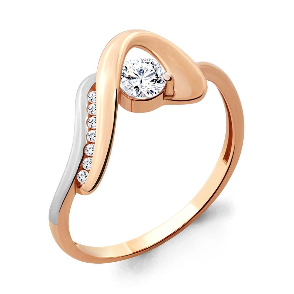 Золотое кольцо Кристалл сваровски арт. 66513а 66513а