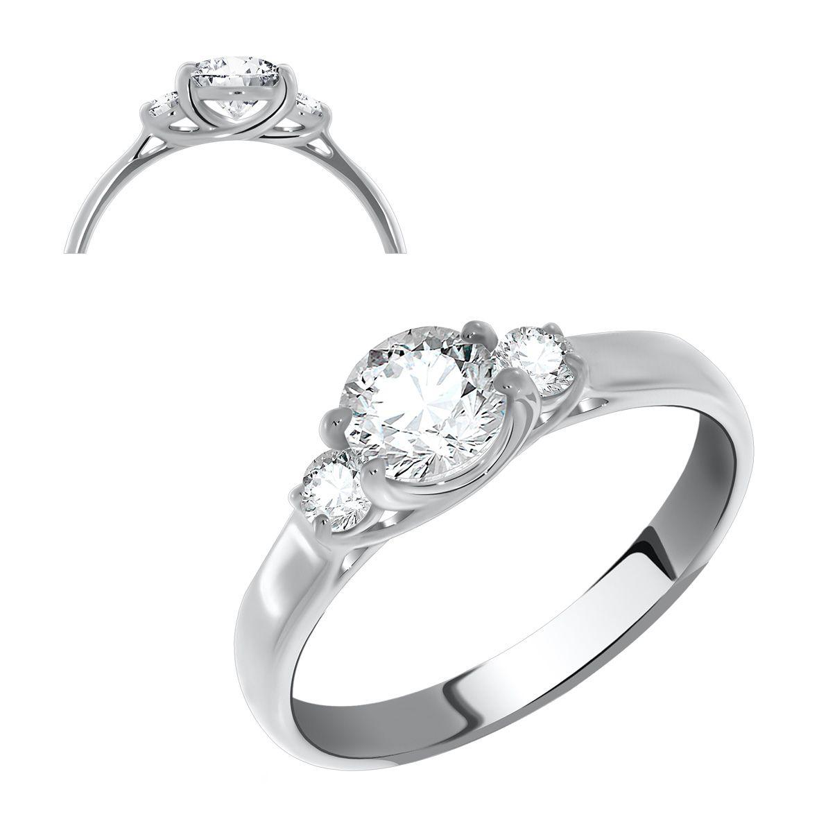 Серебряное кольцо Фианит арт. 1340200260 1340200260