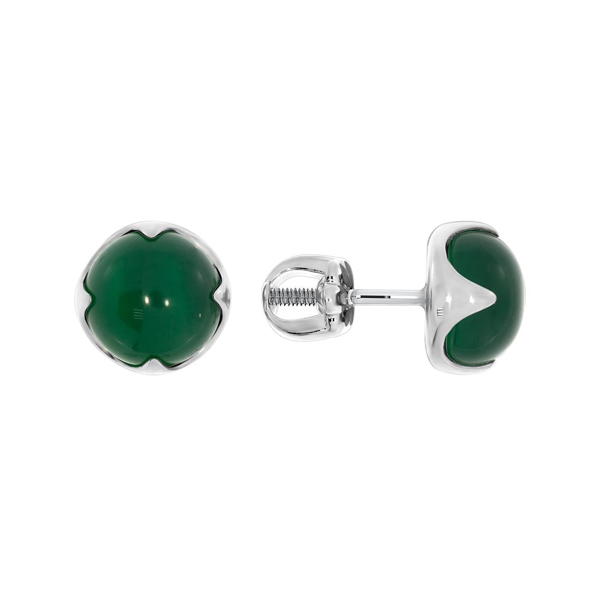 Серебряные серьги с агатом арт. 2340391222-60 2340391222-60
