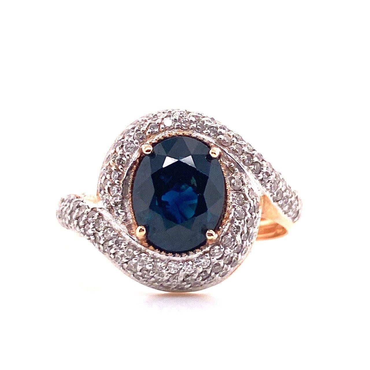 Золотое кольцо Бриллиант и Сапфир арт. 1163 1163