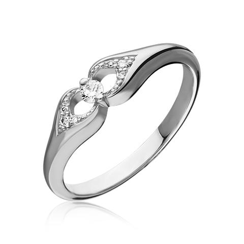 Кольцо из лимонного золота Бриллиант арт. 1-02395 1-02395