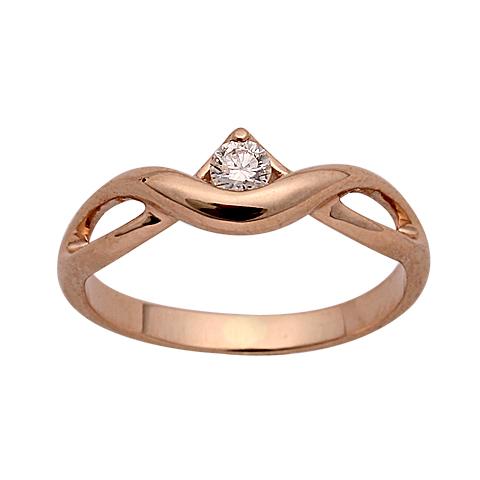 Кольцо из белого золота Бриллиант арт. 1-00445 1-00445