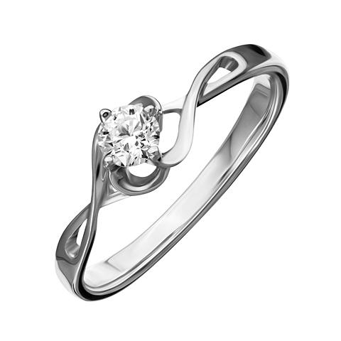 Кольцо из белого золота Бриллиант арт. 1-02024 1-02024