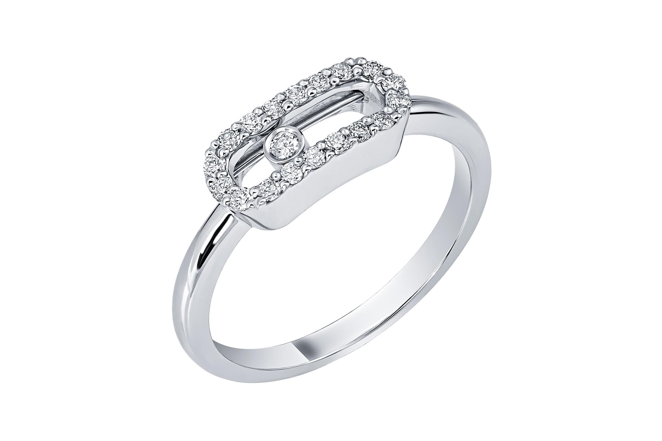 Кольцо из белого золота Бриллиант арт. 91184-1 91184-1