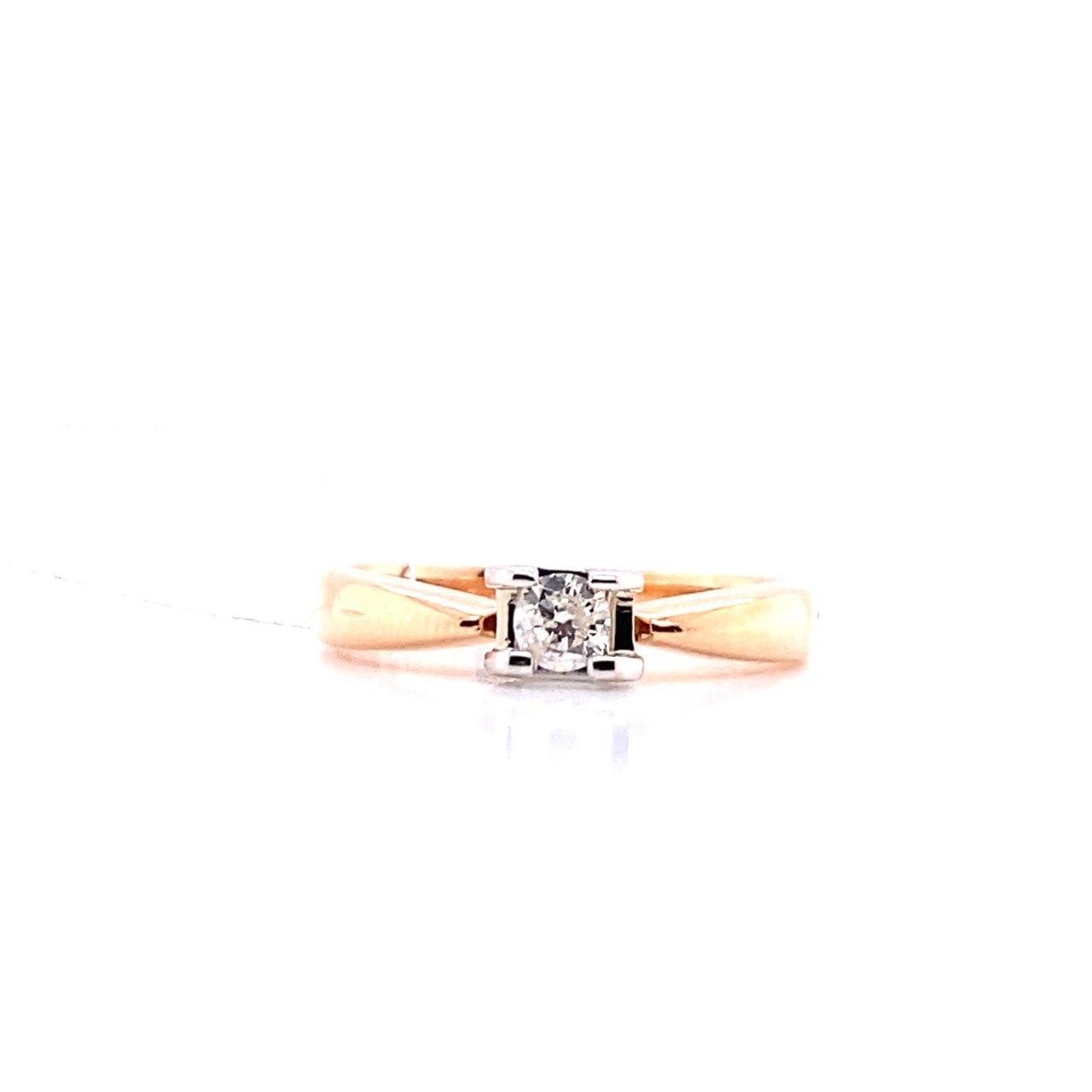 Золотое кольцо Бриллиант арт. БПК-100001-0-0,15 БПК-100001-0-0,15