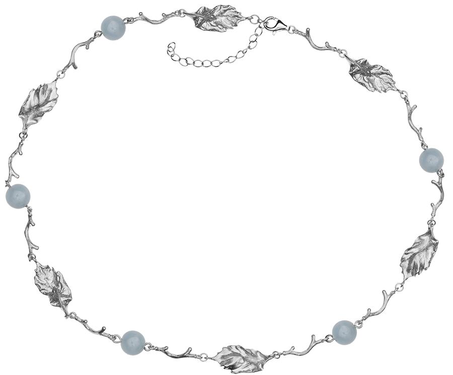 Серебряное колье с аквамарином арт. LISTN023AQ-2 LISTN023AQ-2