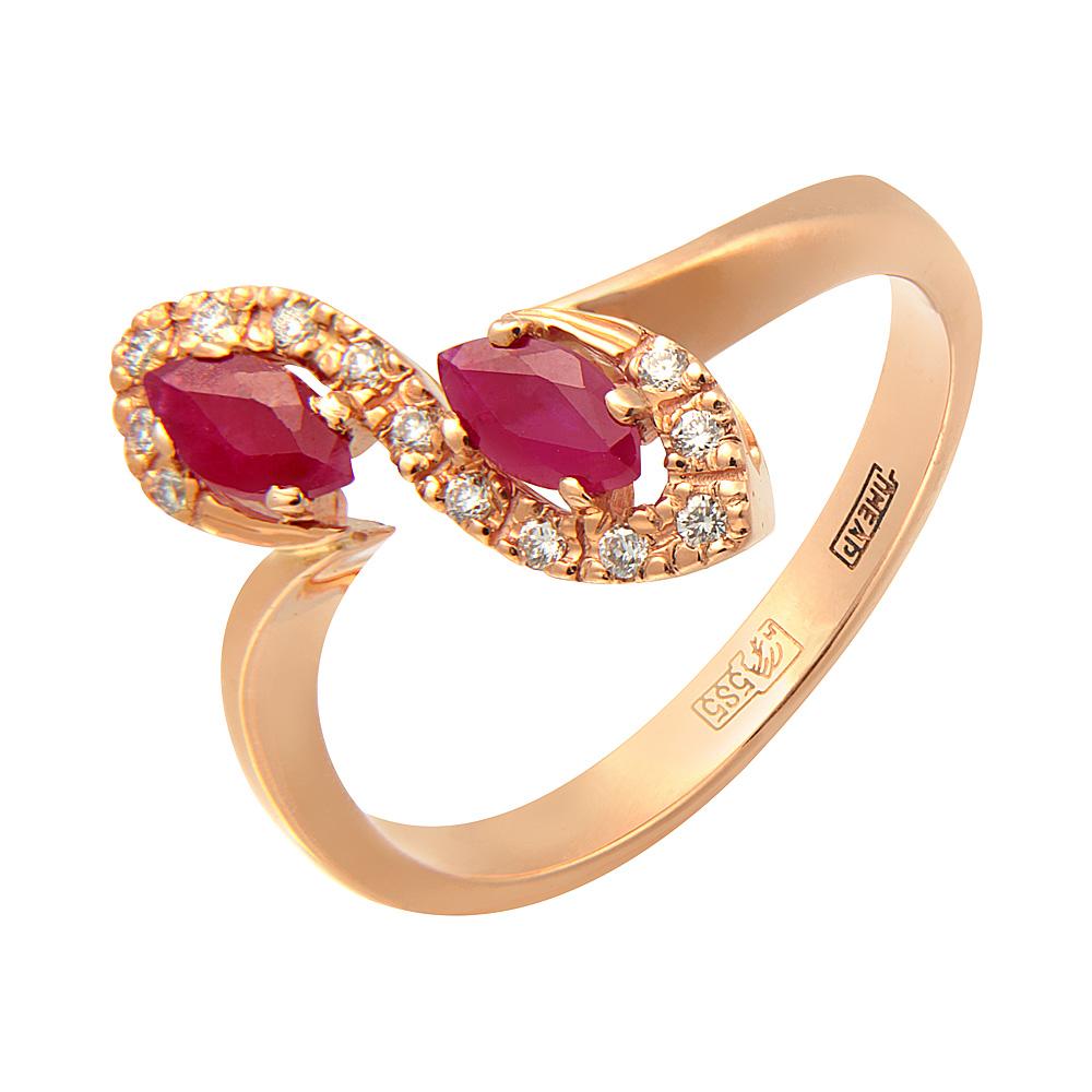 Золотое кольцо Бриллиант и Рубин арт. 0130 0130