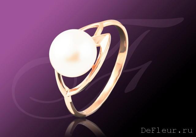 Золотое кольцо Жемчуг арт. 21004A1 21004A1