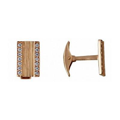 Золотые запонки с фианитом арт. 75057 75057