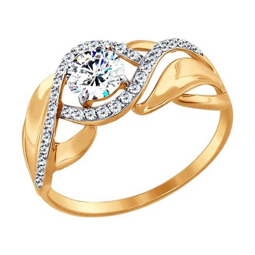 Золотое кольцо Фианит арт. 017424 017424