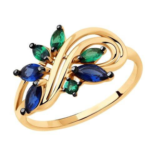Золотое кольцо Фианит арт. 018393 018393