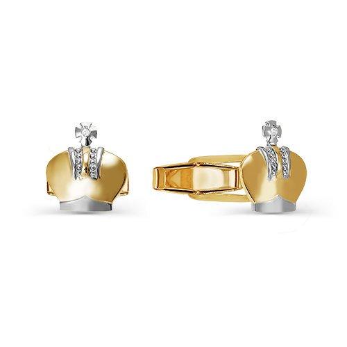 Золотые запонки арт. 660058 660058