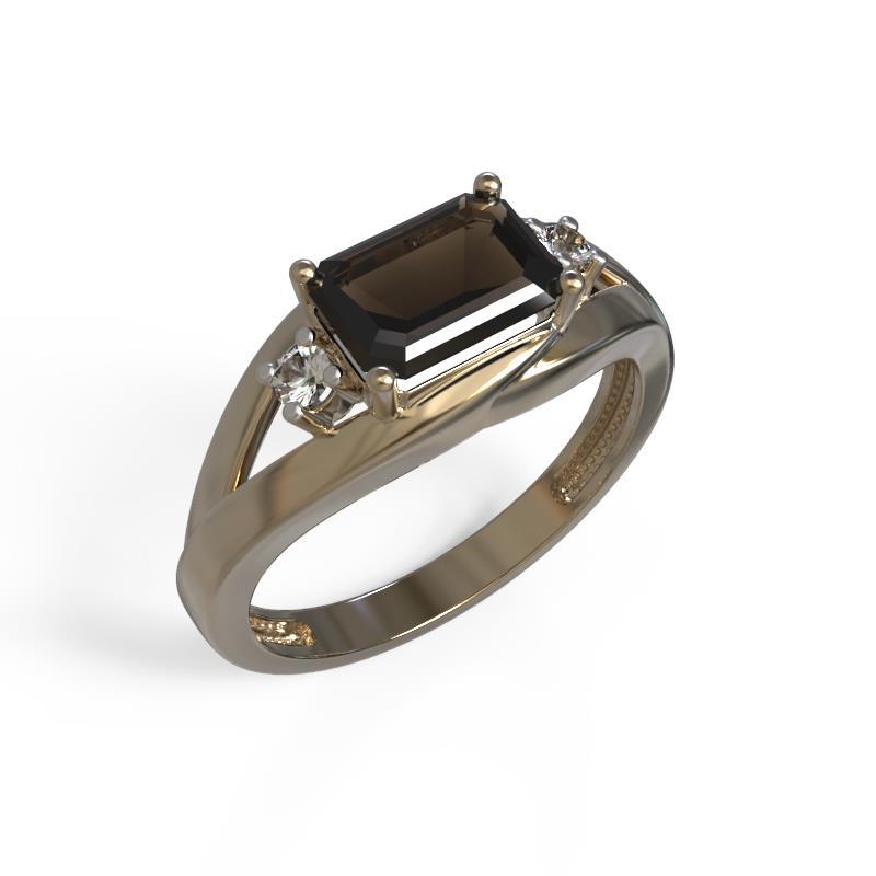 Золотое кольцо Раухтопаз и Фианит арт. 1029421-11130-р 1029421-11130-р
