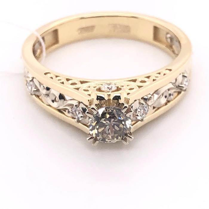 Кольцо из лимонного золота Бриллиант арт. 1-2534-9200 1-2534-9200