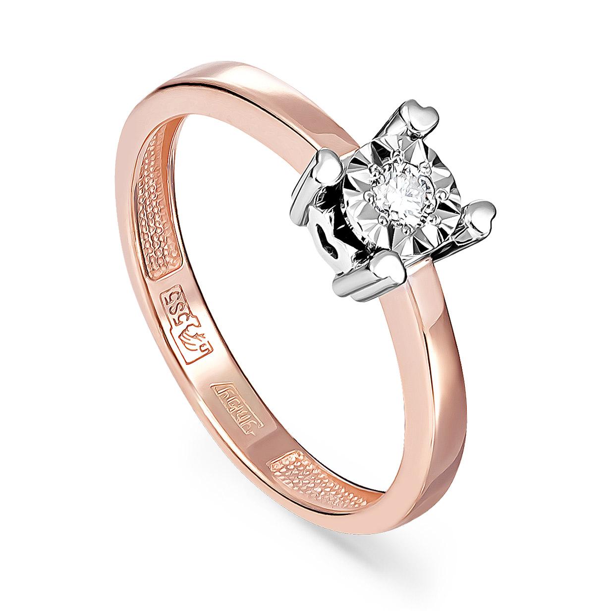Золотое кольцо Бриллиант арт. 11-01102-1000 11-01102-1000