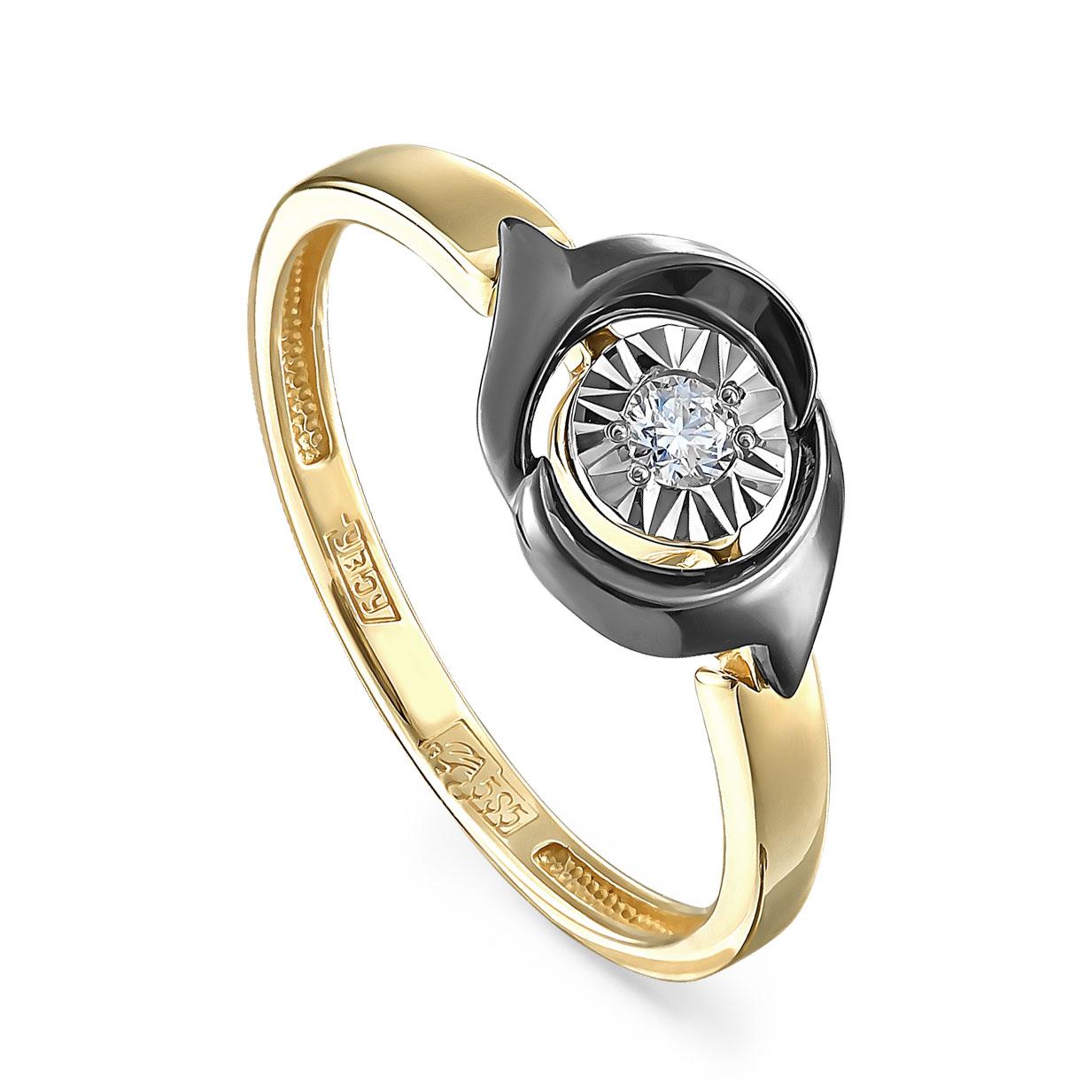 Кольцо из лимонного золота Бриллиант арт. 11-21214-1089 11-21214-1089